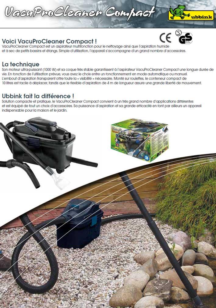 aspirateur pour bassin de jardin