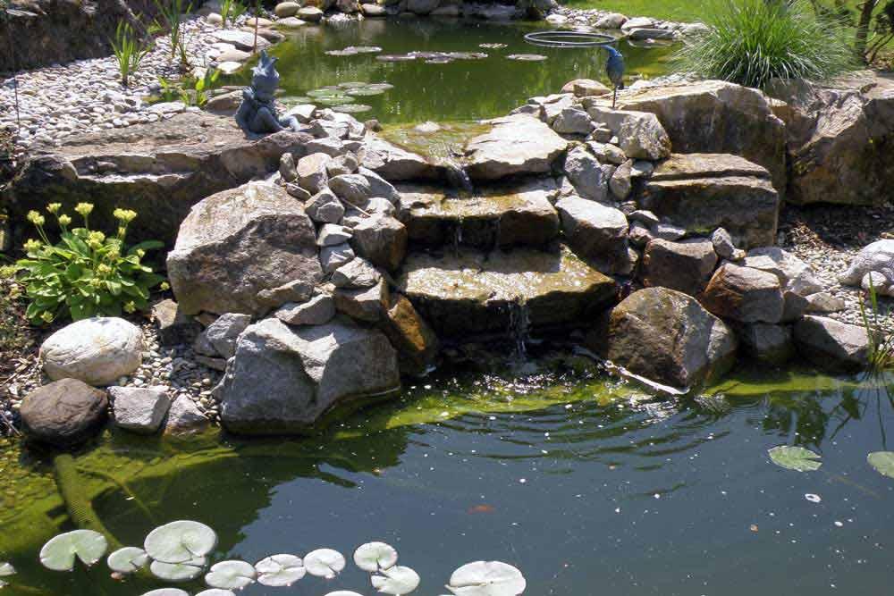 bassin jardin cascade