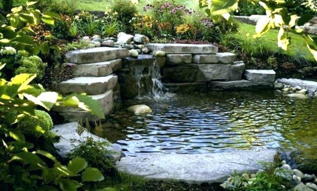 cascade pour bassin de jardin