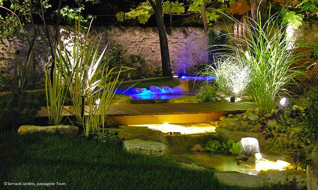 eclairage bassin exterieur