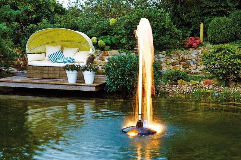 pompe fontaine bassin